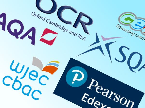 The logos of several UK exam boards