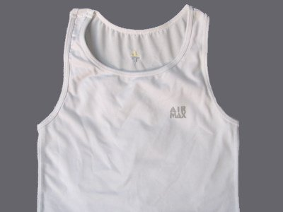 A white chest binder