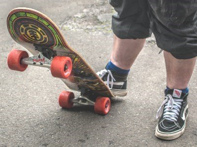 A person using a skateboard