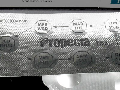 Finasteride pills in blister pack
